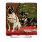 Pierette and Mifs Shower Curtain by Charles van den Eycken