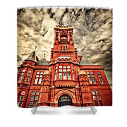 Pierhead Shower Curtain by Meirion Matthias