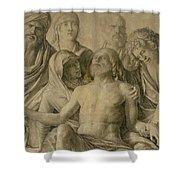Pieta Shower Curtain by Giovanni Bellini