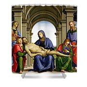 Pieta Shower Curtain by Pietro Perugino