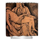 Pieta Study Shower Curtain by Hanne Lore Koehler