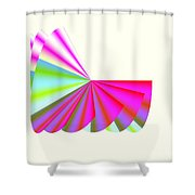 Pink Poodle Skirt Ruffles Shower Curtain by Michael Skinner