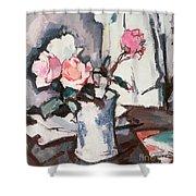 Pink Roses Shower Curtain by Samuel John Peploe