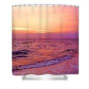 Pink Sunrise Shower Curtain by Kristin Elmquist