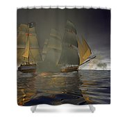 Pirate Attack Shower Curtain by Carol and Mike Werner