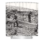 Placer Gold Mining C. 1889 Shower Curtain by Daniel Hagerman