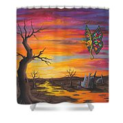 Planet Px7 Shower Curtain by Roz Eve
