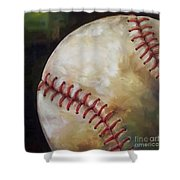 Play Ball Shower Curtain by Kristine Kainer