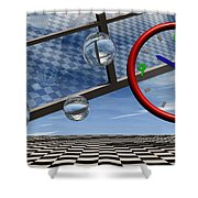 Play Time Shower Curtain by Richard Rizzo