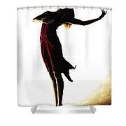 Poise in Silhouette Shower Curtain by Richard Young