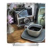 Polaroid perceptions Shower Curtain by Jane Linders