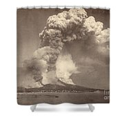 Pompeii: Mount Vesuvius Shower Curtain by Granger