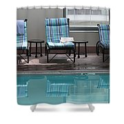 Pool Time Shower Curtain by Lauri Novak