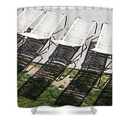 Poolside Shower Curtain by Lauri Novak