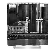 Port Of San Francisco Shower Curtain by Mick Burkey
