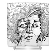Portait Of A Woman Shower Curtain by Michelle Calkins
