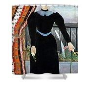 Portrait Of A Woman Shower Curtain by Henri Rousseau