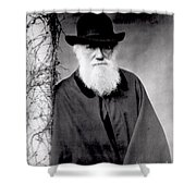 Portrait Of Charles Darwin Shower Curtain by Julia Margaret Cameron