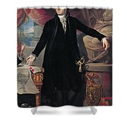 Portrait of George Washington Shower Curtain by Joes Perovani