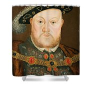 Portrait Of Henry Viii Shower Curtain by English School
