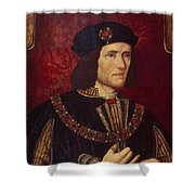 Portrait Of King Richard IIi Shower Curtain by English School