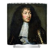 Portrait of Louis XIV Shower Curtain by Charles Le Brun