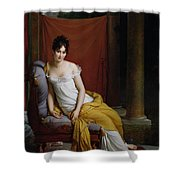 Portrait Of Madame Recamier Shower Curtain by Francois Pascal Simon Gerard