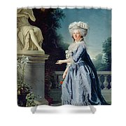 Portrait Of Marie-louise Victoire De France Shower Curtain by Adelaide Labille-Guiard
