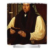 Portrait Of Thomas Cranmer Shower Curtain by Gerlach Flicke