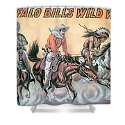 Poster For Buffalo Bill's Wild West Show Shower Curtain by American School