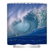 Powerful Surf Shower Curtain by Ron Dahlquist - Printscapes