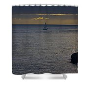 pr 237 - Evening Sail Shower Curtain by Chris Berry