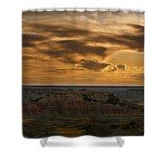 Prairie Wind Overlook Badlands South Dakota Shower Curtain by Steve Gadomski