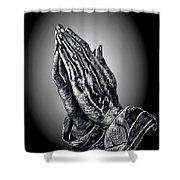 Praying Hands Shower Curtain by Ronald Chambers