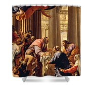 Presentation In The Temple Shower Curtain by Simon Vouet