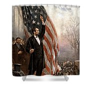 President Abraham Lincoln Giving A Speech Shower Curtain by War Is Hell Store