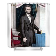 President Abraham Lincoln In Color Shower Curtain by War Is Hell Store