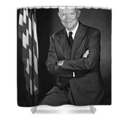 President Eisenhower and The U.S. Flag Shower Curtain by War Is Hell Store