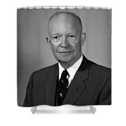 President Eisenhower Shower Curtain by War Is Hell Store