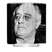 President Franklin Delano Roosevelt Shower Curtain by War Is Hell Store