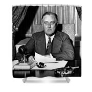 President Franklin Roosevelt Shower Curtain by War Is Hell Store