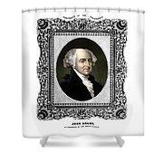 President John Adams Portrait  Shower Curtain by War Is Hell Store
