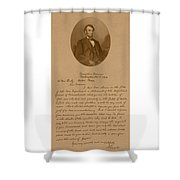 President Lincoln's Letter To Mrs. Bixby Shower Curtain by War Is Hell Store