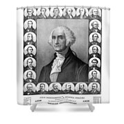 Presidents of The United States 1789-1889 Shower Curtain by War Is Hell Store