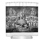 Presidents Washington And Jackson Shower Curtain by War Is Hell Store