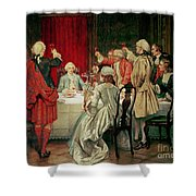 Prince Charles Edward Stuart In Edinburgh Shower Curtain by William Brassey Hole