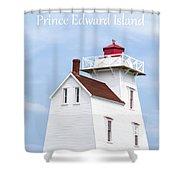 Prince Edward Island Lighthouse Poster Shower Curtain by Edward Fielding