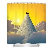 Productivity Shower Curtain by Jerry LoFaro