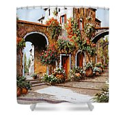 Profumi Di Paese Shower Curtain by Guido Borelli