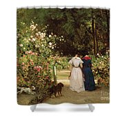 Promenade Shower Curtain by Constant-Emile Troyon